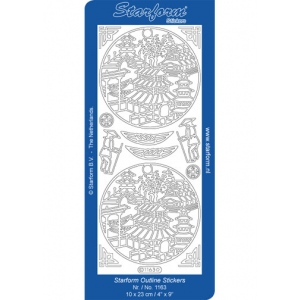 Deco Stickers - Oriental Houses: Silver