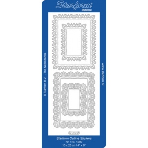 Deco Stickers - Rectangle Frames: Silver