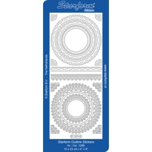 Deco Stickers - Floral Circle Frame: Silver