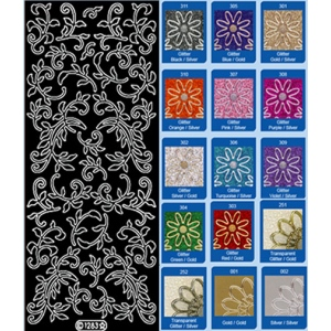 Deco Stickers - Leaf Flourish: Silver