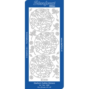 Deco Stickers - Rose Circles: Silver