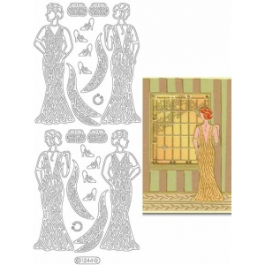 Deco Stickers - Vintage Ladies: Silver