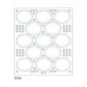 Deco Stickers - Oval Frames: Transparent Silver