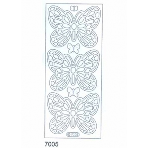Deco Stickers - Large Butterflies: Transparent Glitter Silver