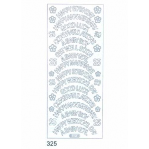 Deco Stickers - Variety - Occasions: Silver
