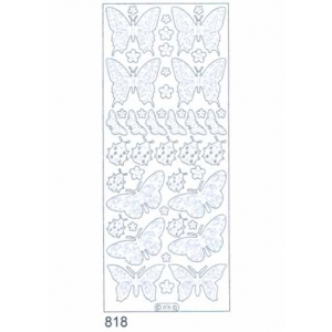 Deco Stickers - Butterflies/ Ladybugs: Silver