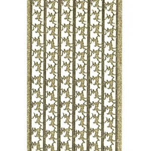 Deco Stickers - Reindeer Border: Glitter Gold