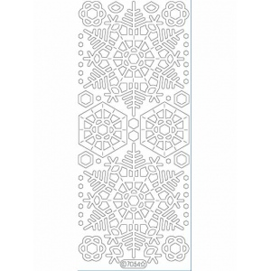 Deco Stickers - Large Snowflakes: Transparent Glitter Silver