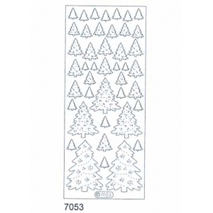 Deco Stickers - Christmas Trees: Transparent Glitter Gold