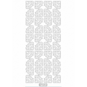 Deco Stickers - Flower Corners: Holographic Silver