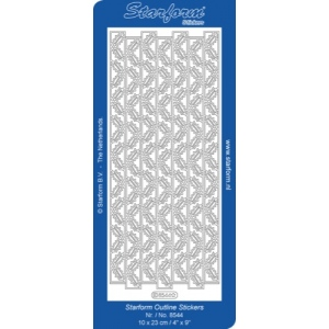 Deco Stickers - Ribbon Border-Holly & Berries: Silver