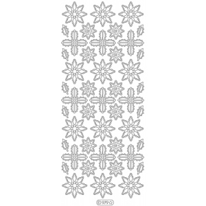 Deco Stickers - Poinsettias: Silver