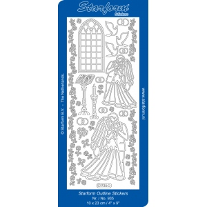 Deco Stickers - Wedding: Silver