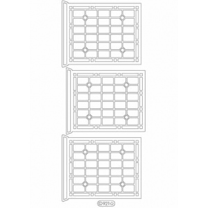 Deco Stickers - Window Panes: Silver