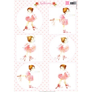 Marianne Design  Cutting Sheet: Ballerina