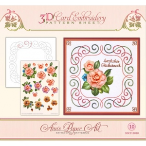 Ann's Paper Art Ann Paper Embroidery Pattern - Camellia