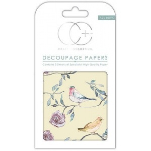 Bird Treetop Large Decoupage Papers