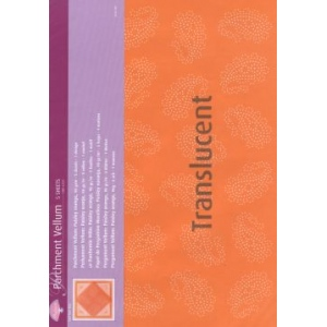 Vellum Paisley orange (5 sheets)