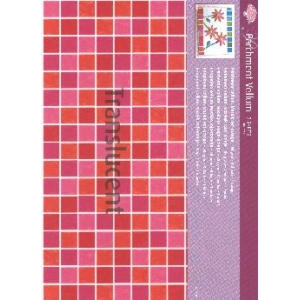 Pergamano Vellum Mosaic Red/orange (5 Sheets)