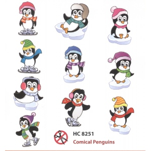 Hearty Crafts Easy 3-D Topper - Cute Penguins (10)