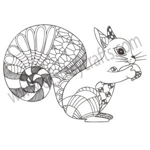 Clear stamp - Squirrel