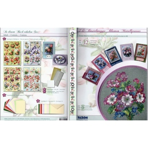 3D Precut Card Making Book - 12 Floral Bouquets (Metallic)