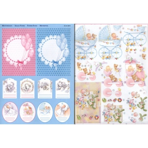 3D Precut - Baby Girl and Baby Boy (2 sheets)