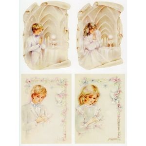 3-D Precut Communion / Children Praying