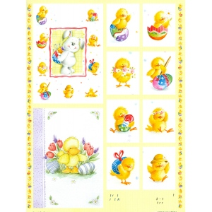 3D Precut - Easter Bunny & Chicks