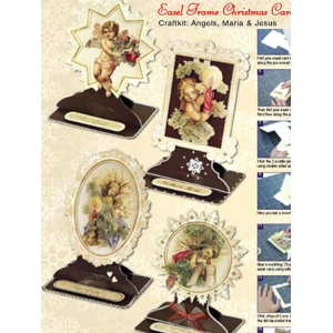 Christmas Easel Frame Card Kit (4)- Angels, Maria & Jesus
