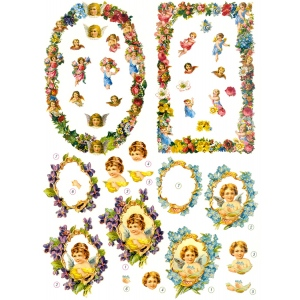 Reddy 3D Precut Flower Frames And Angels