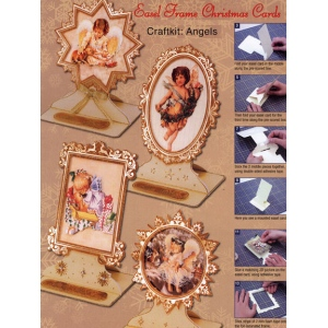 Christmas Easel Frame Card Kit (4)- Cherub