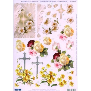 Reddy 3D Precut - Flowers And Cross