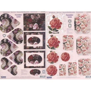 Reddy Pyramid Precut Sheets - Roses Different Shapes
