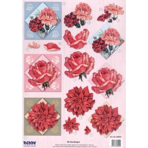 Reddy Die Cut 3D - Roses and Carnations