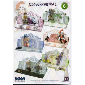 3D Precut Circus Clowns Easel Card Kit 1