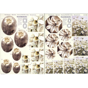 Reddy 3D Precut - White Flowers - 2 Sheets