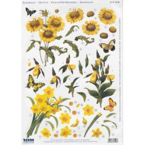 Reddy 3D Precut Sunflowers, Slippers, Narcissus