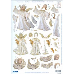 3D Precut Angels With Teddy Bear