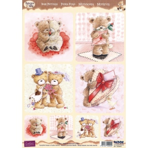 Reddy 3D Precut Popcorn Bear-Romantic