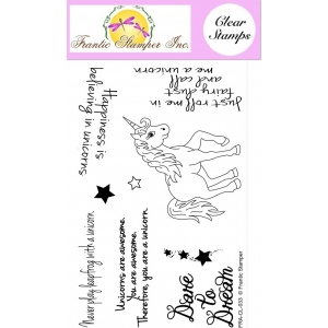 Frantic Stamper  Clear Stamp Set - Unicorns Are Awesome