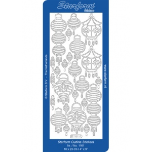 Deco Stickers - Oriental Lanterns: Silver