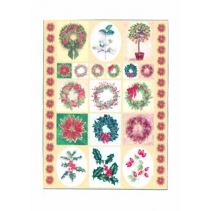 Dufex  Metallic Stickers - Traditional Florals