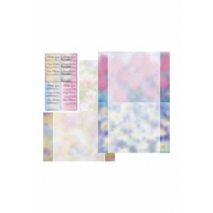 Dufex  Metallic Designercards & Sayings Background Flowers & Silver 2