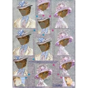 Metallic Pyramex Cutting Sheets Ladies with Hats