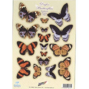 Dufex Metallic Precut 3D Butterfly Embellishments Spring