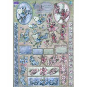 Dufex  Metallic Precut Sheet -Flower Fairies Chicory & Almond Blossom