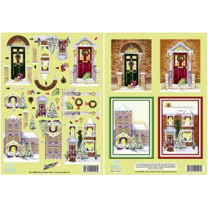 Metallic Pre-cut 3D Twin Pack - Festive Doorways