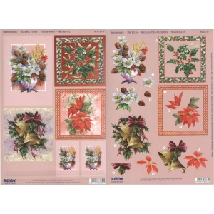 Reddy 3D Precut Sheet Bell, Dogwood, Poinsettia And Holly
