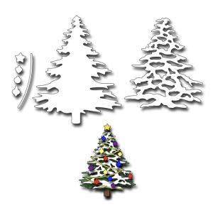 Frantic Stamper Precision Die - Christmas Tree